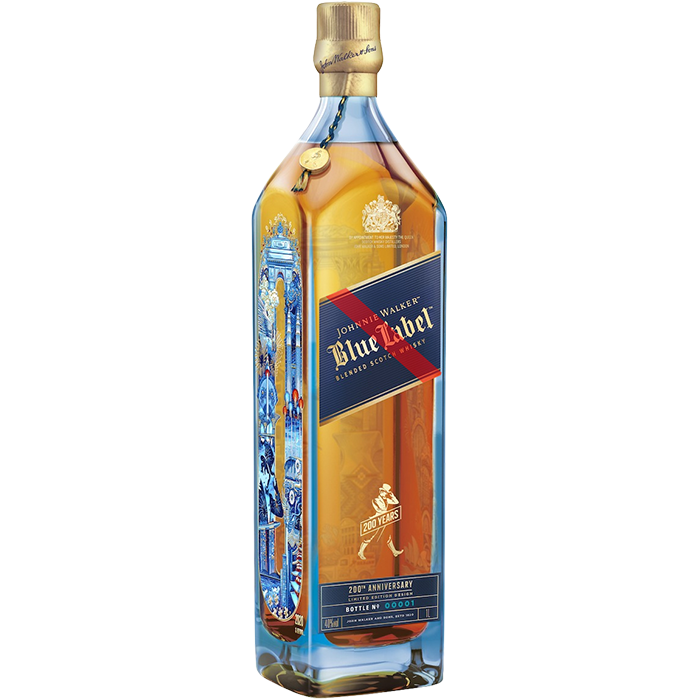 Whisky Johnnie Walker Blue Label 200 Años (Caja 4x750ml)