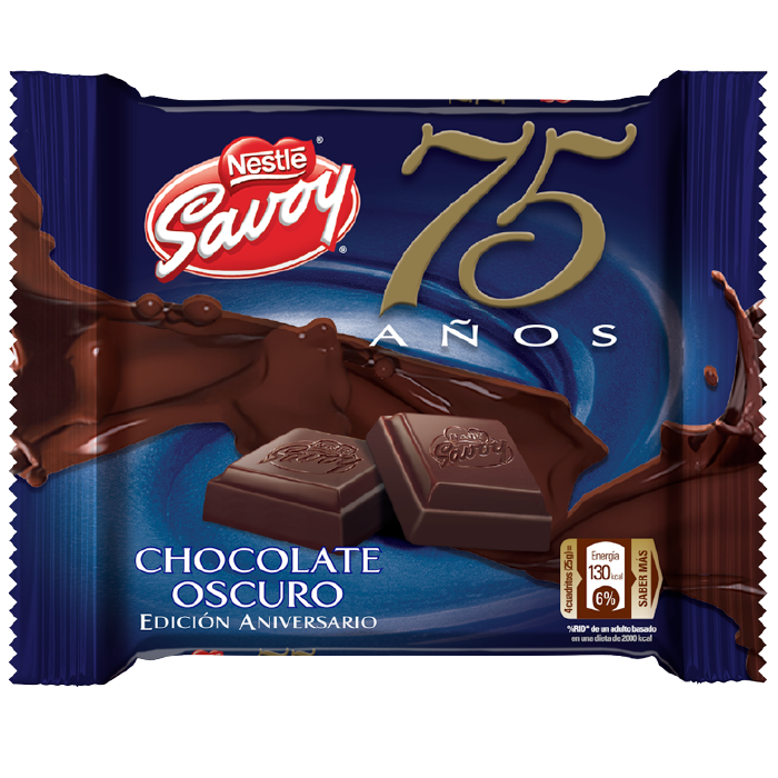 SAVOY® 75 Aniversario Chocolate Oscuro (Display 10x100g)