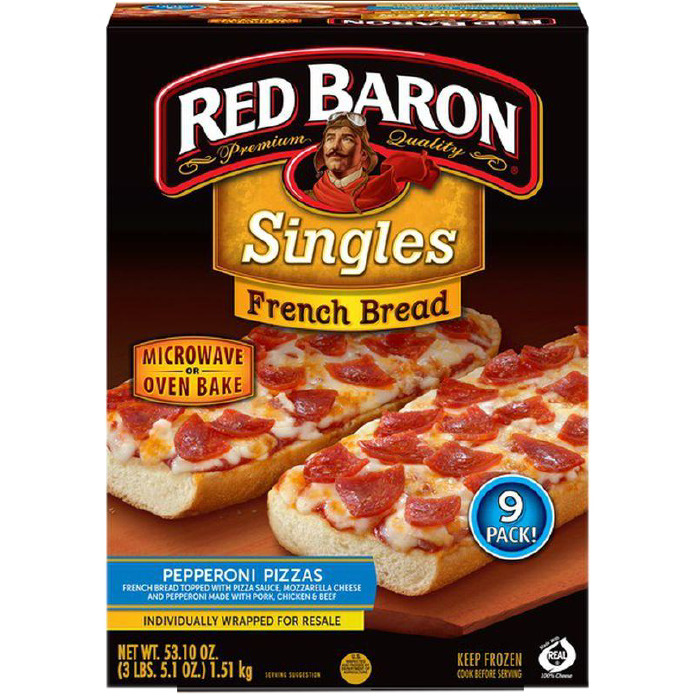 Pizza Lista Red Baron Pepperoni French Bread 9Pack 1496g